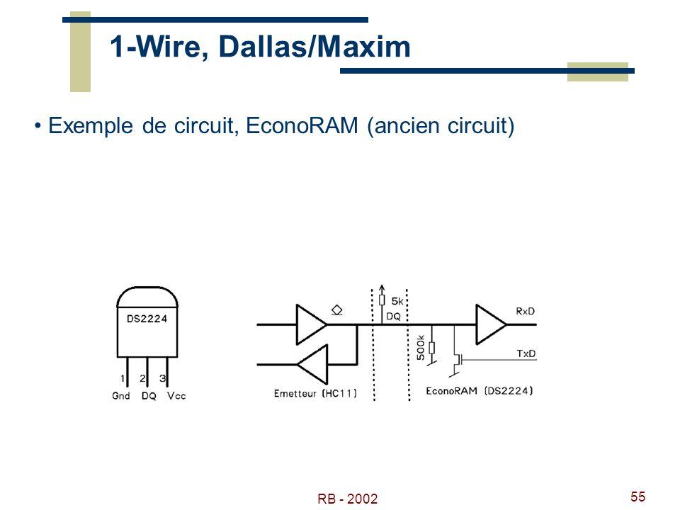 1-Wire, Dallas/Maxim Exemple de circuit, EconoRAM (ancien circuit)