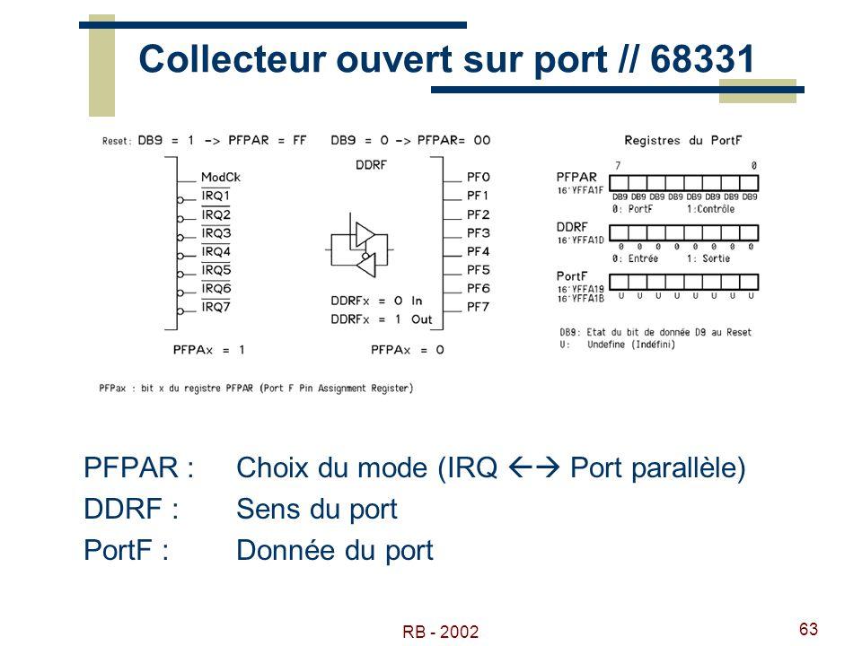 Collecteur ouvert sur port // 68331