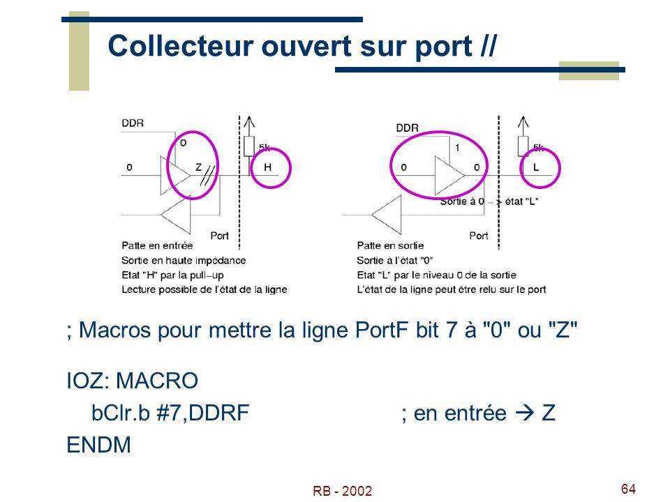 Collecteur ouvert sur port //