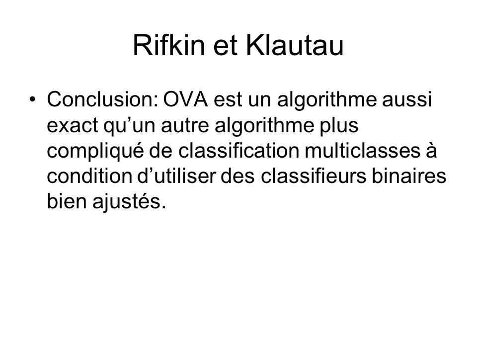 Rifkin et Klautau