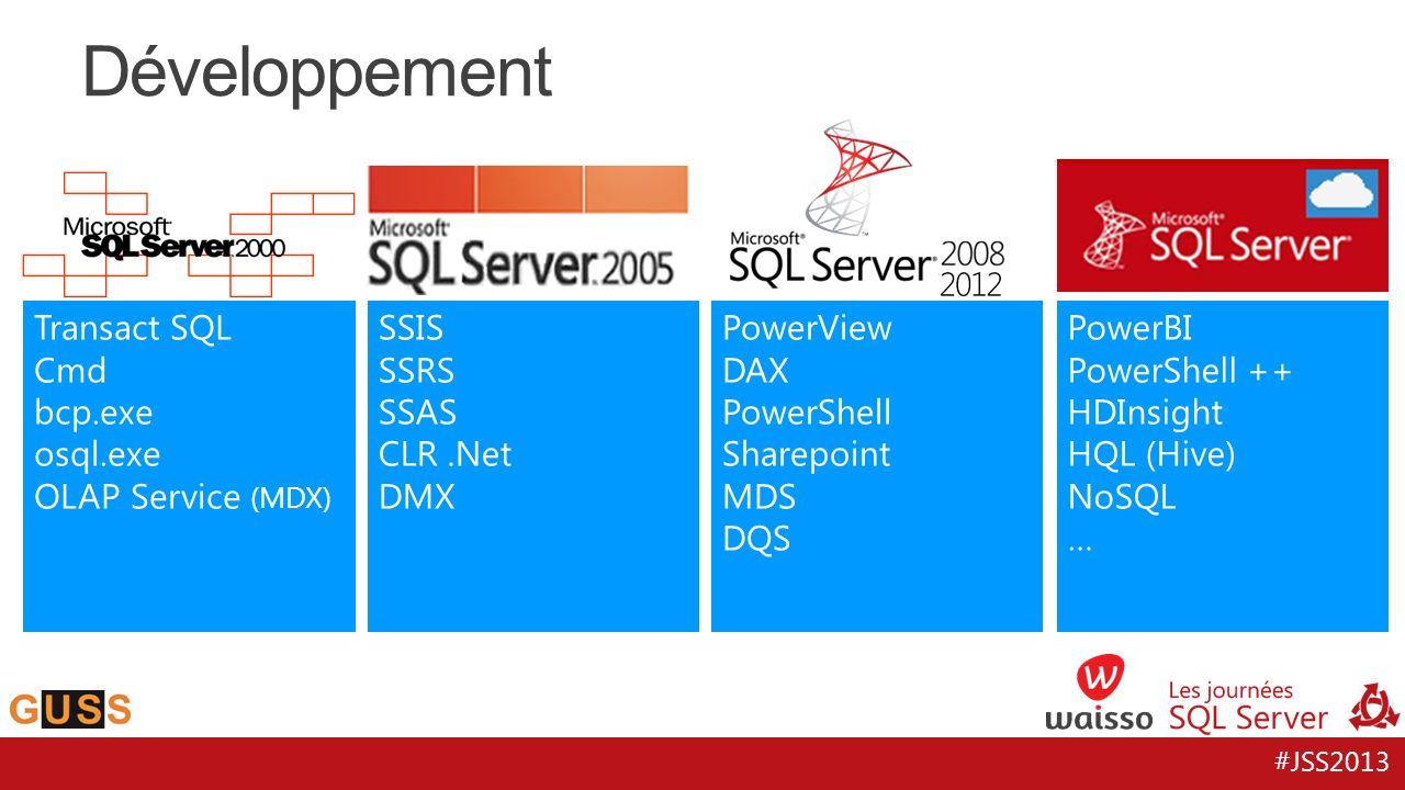 Développement Transact SQL Cmd bcp.exe osql.exe OLAP Service (MDX)