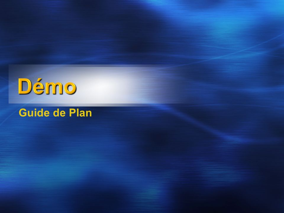 Démo Guide de Plan 3/30/2017 8:39 AM 3/30/2017 8:39 AM 21