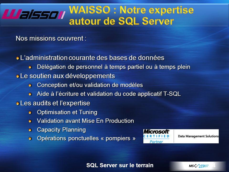 WAISSO : Notre expertise autour de SQL Server