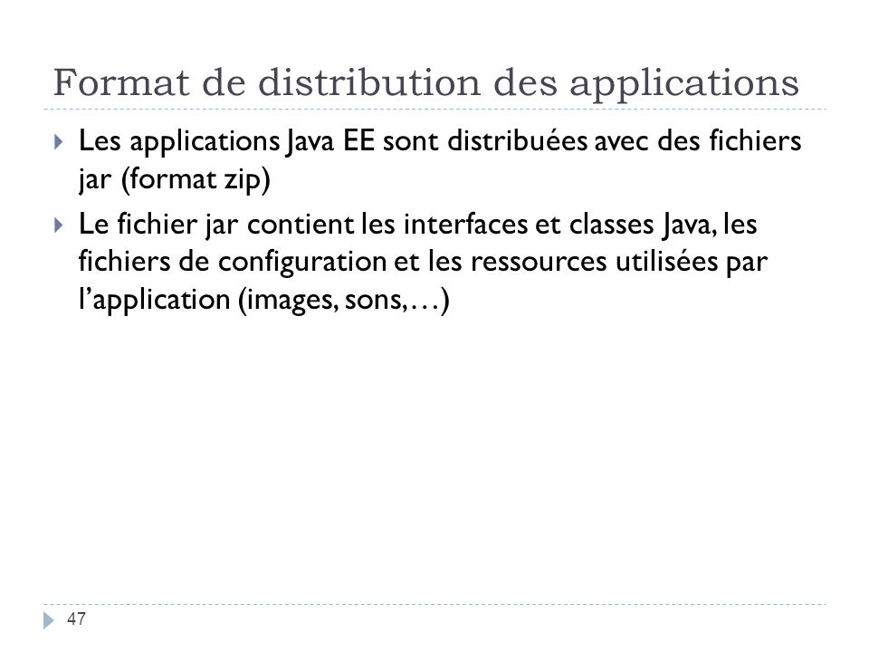 Format de distribution des applications