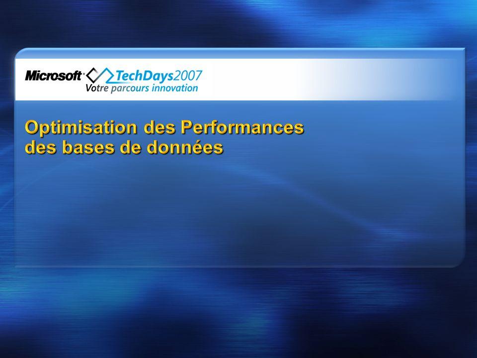 Optimisation des Performances des bases de données