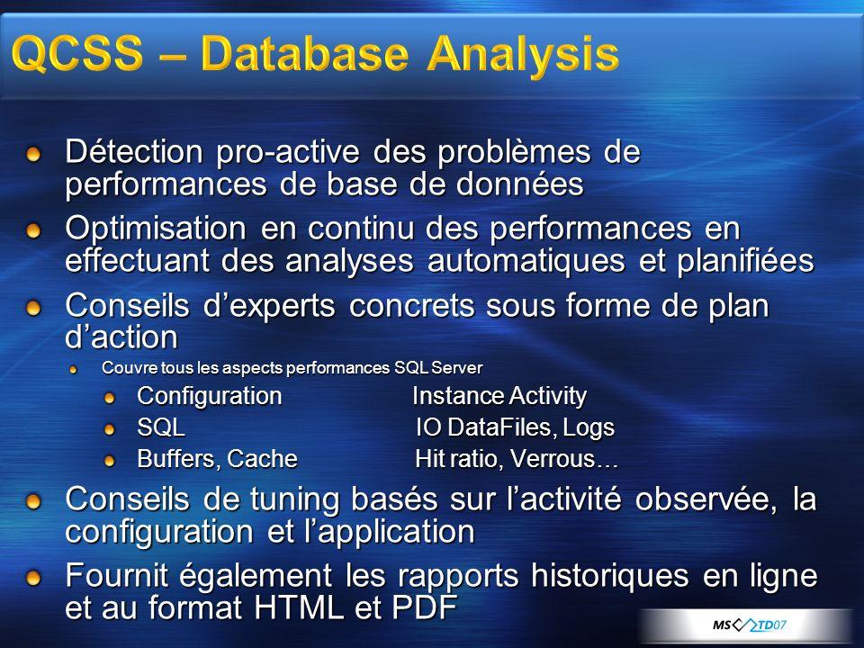 QCSS – Database Analysis