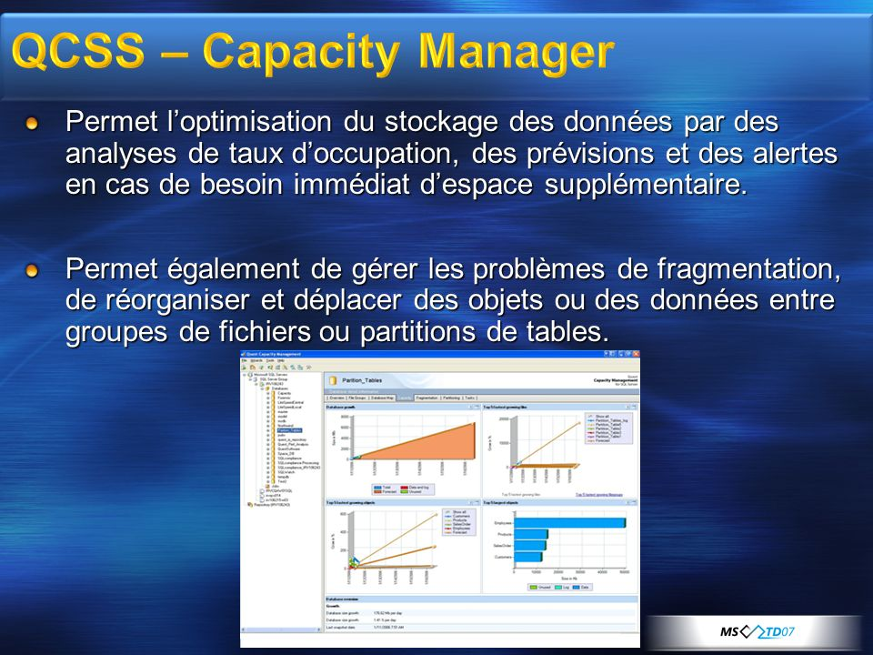 QCSS – Capacity Manager