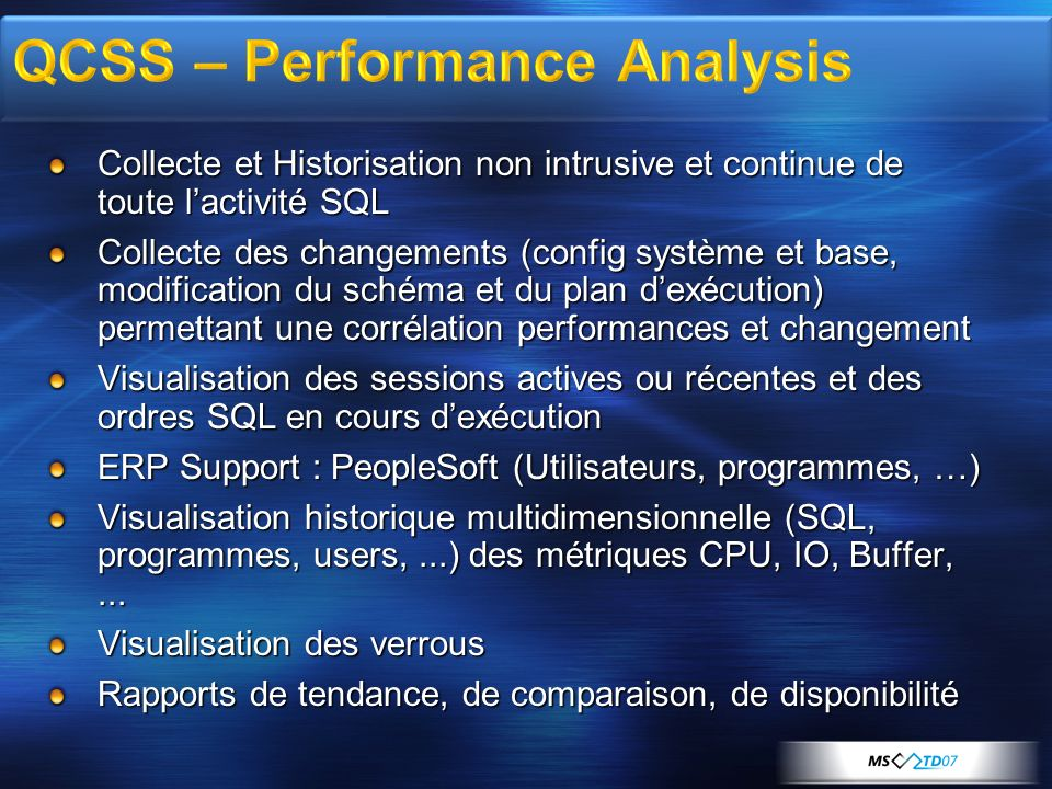 QCSS – Performance Analysis