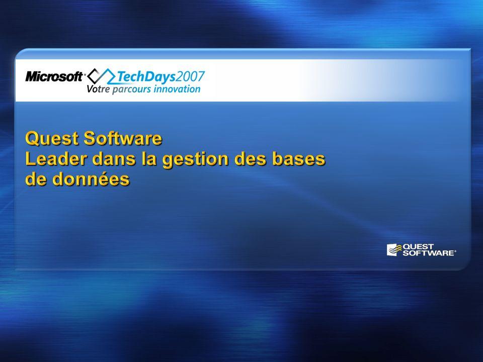 Quest Software Leader dans la gestion des bases de données