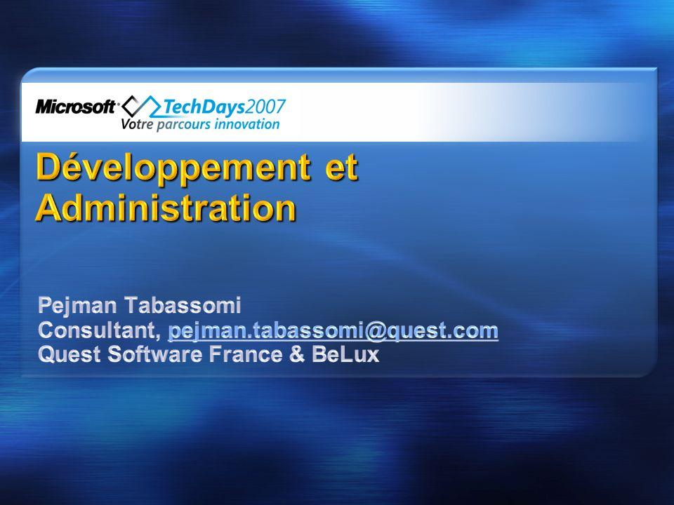 Développement et Administration