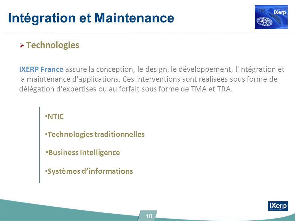 Intégration et Maintenance