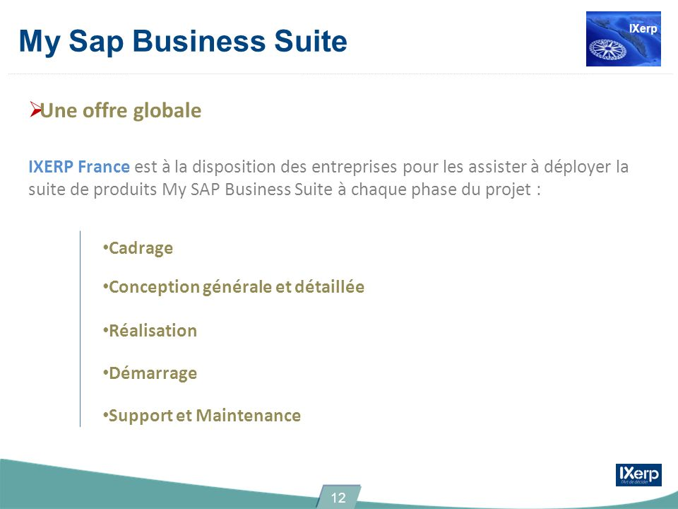 My Sap Business Suite Une offre globale