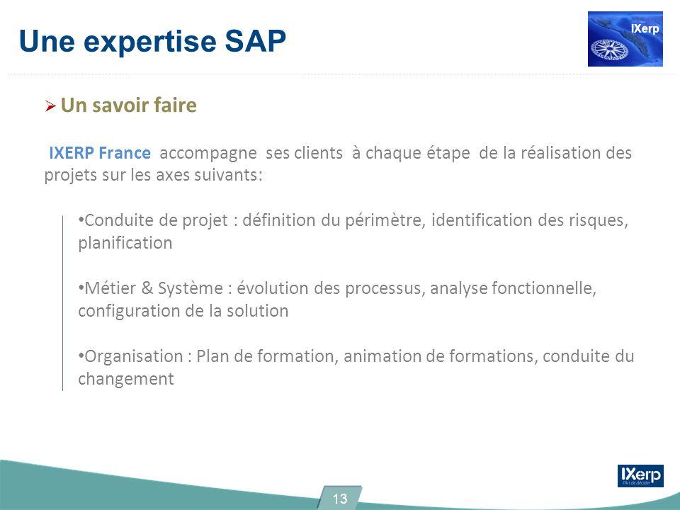 IXerp Une expertise SAP. Un savoir faire.