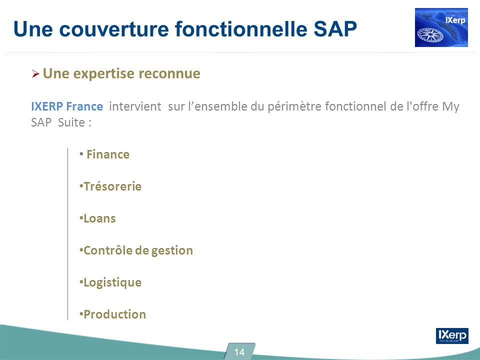 Une couverture fonctionnelle SAP