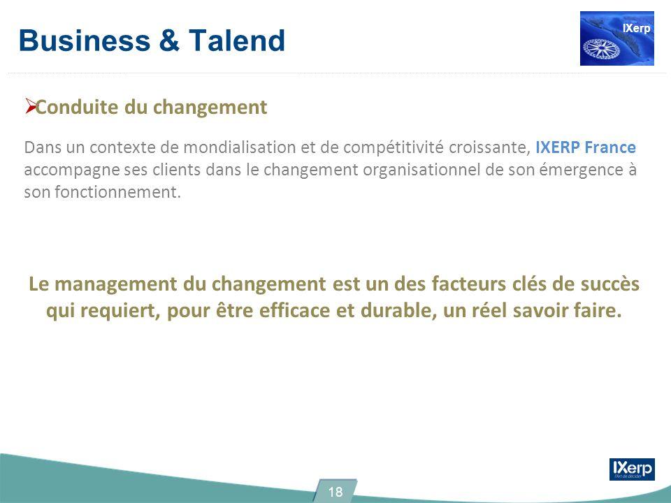 Business & Talend Conduite du changement