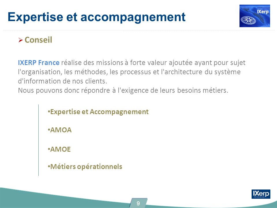 Expertise et accompagnement