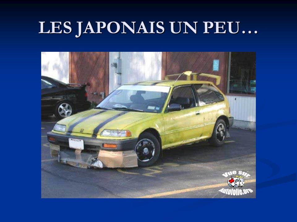 LES JAPONAIS UN PEU…