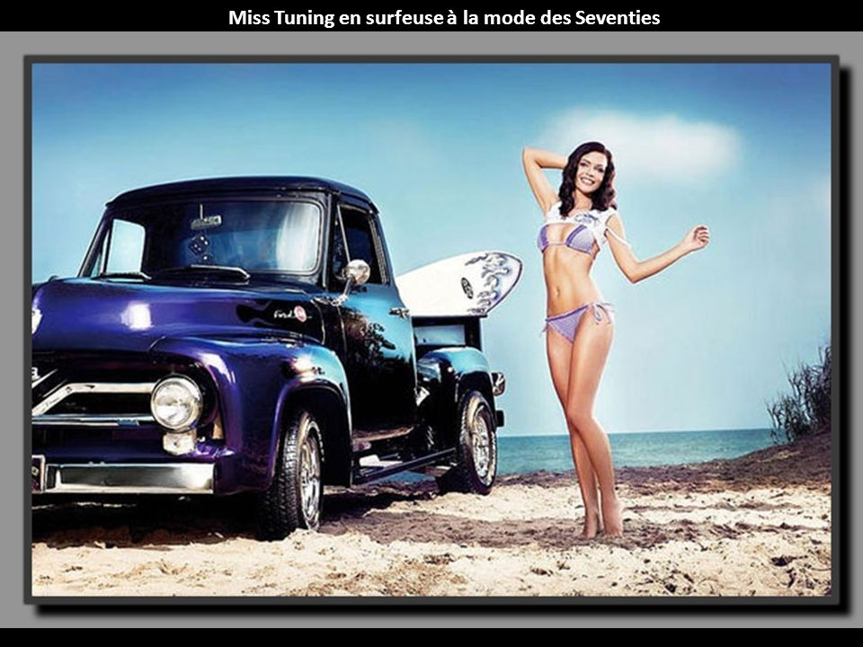 Miss Tuning en surfeuse à la mode des Seventies