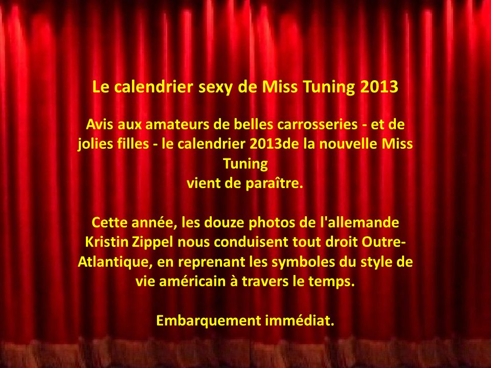 Le calendrier sexy de Miss Tuning 2013