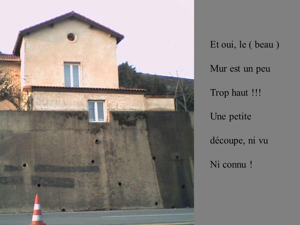 Et oui, le ( beau ) Mur est un peu Trop haut !!! Une petite découpe, ni vu Ni connu !