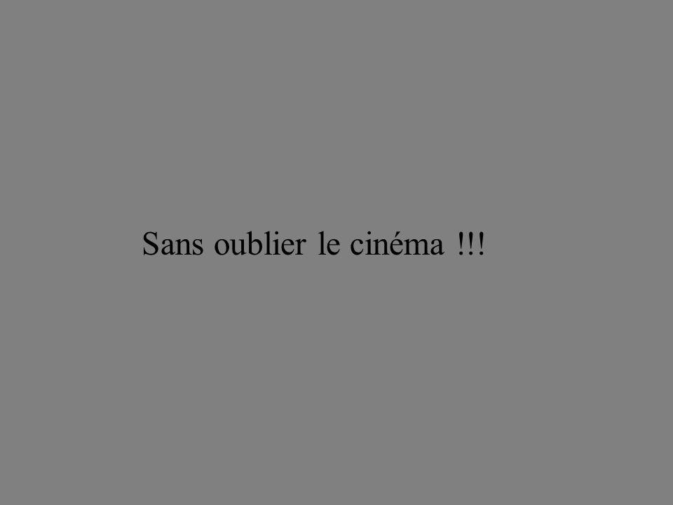 Sans oublier le cinéma !!!