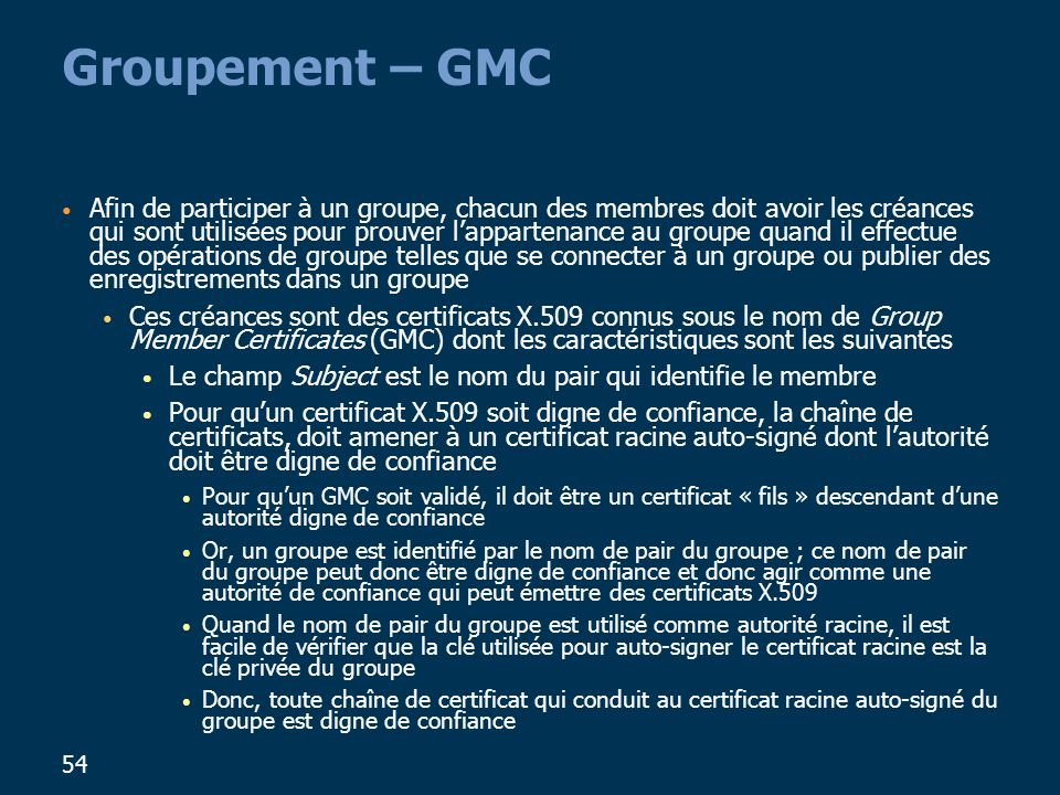 Groupement – GMC