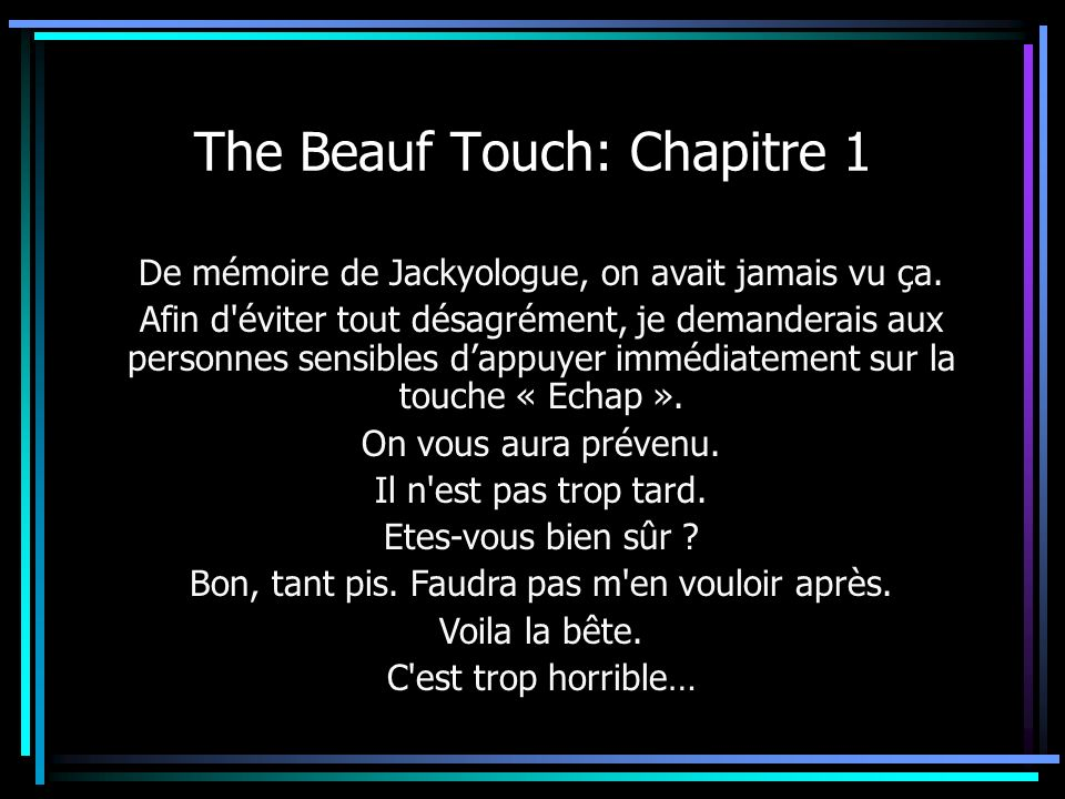 The Beauf Touch: Chapitre 1