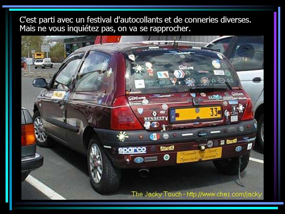 C est parti avec un festival d autocollants et de conneries diverses