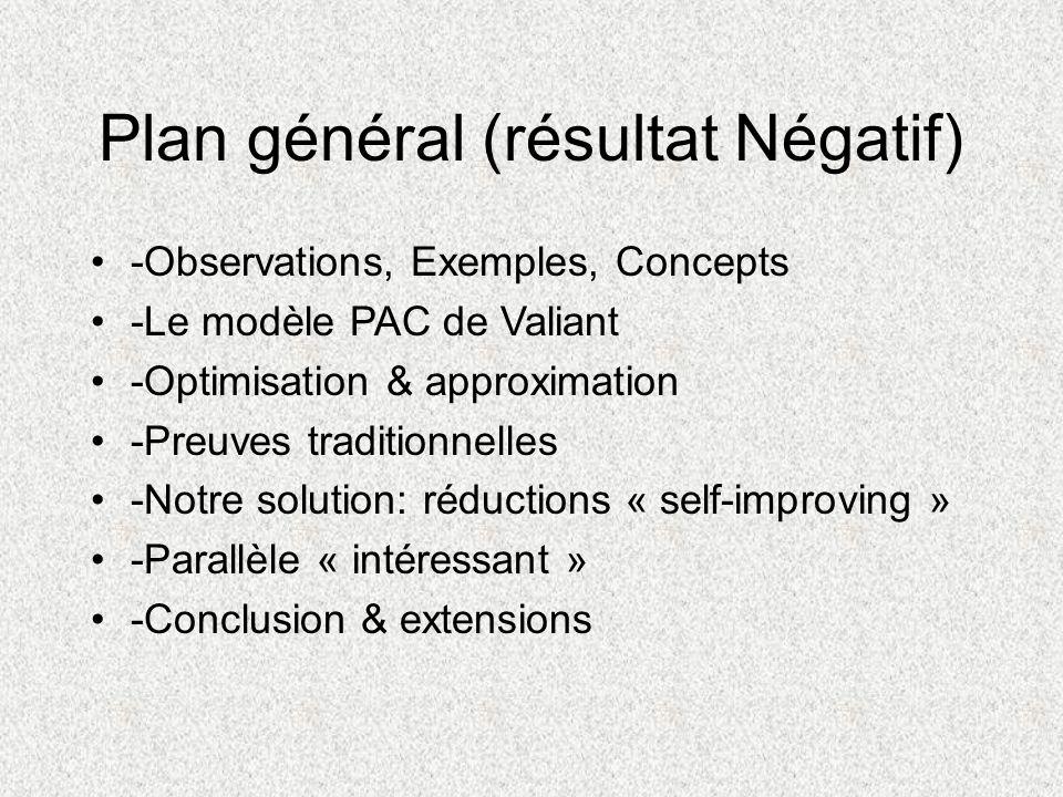 Plan général (résultat Négatif)