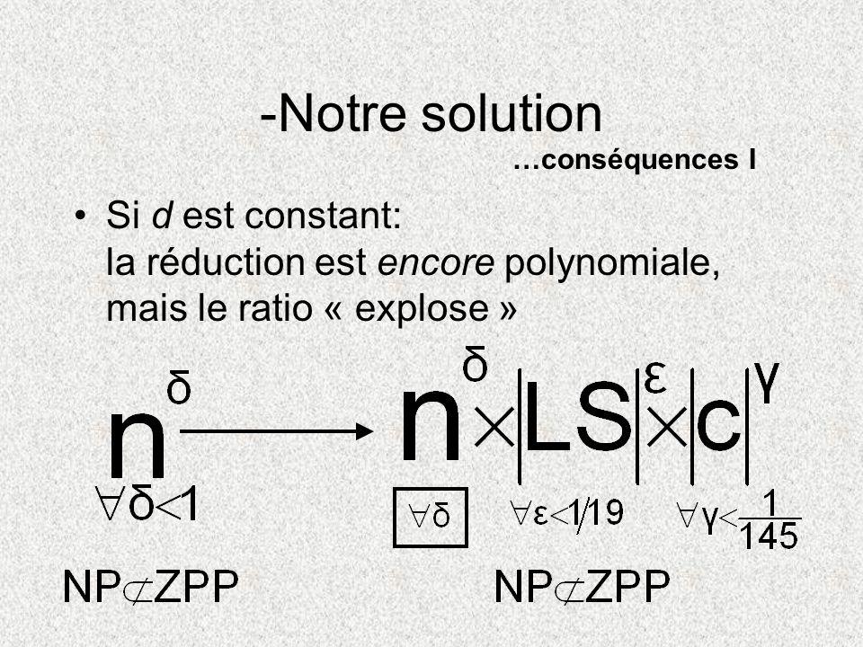 -Notre solution …conséquences I.
