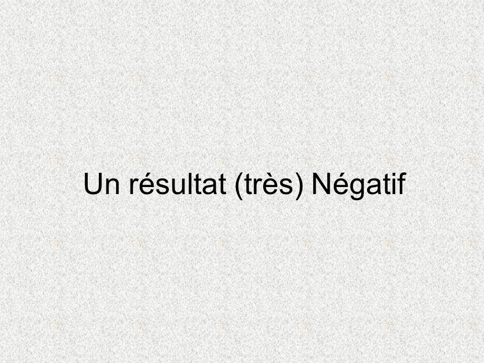 Un résultat (très) Négatif