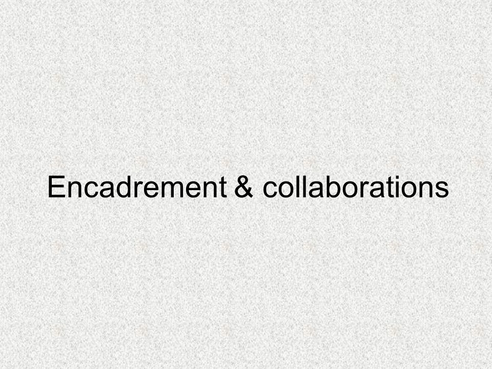 Encadrement & collaborations