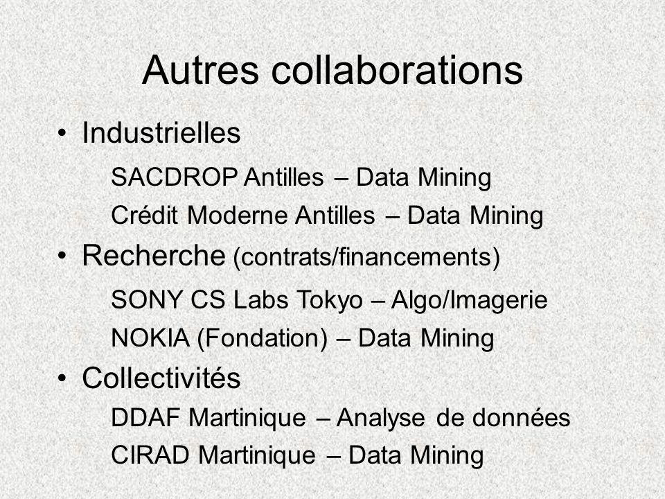 Autres collaborations