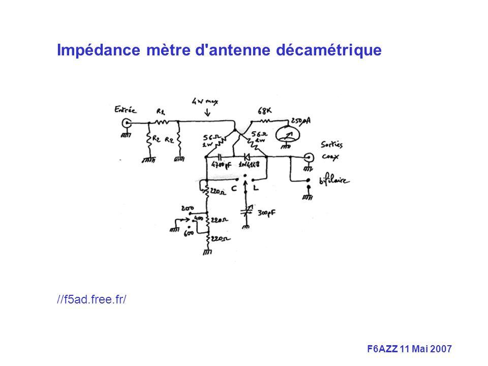 Impédance mètre d antenne décamétrique