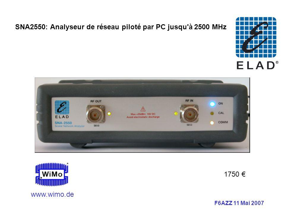 SNA2550: Analyseur de réseau piloté par PC jusqu à 2500 MHz