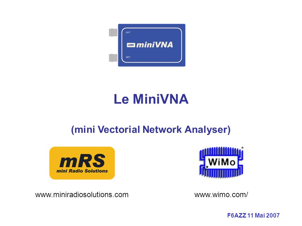 (mini Vectorial Network Analyser)