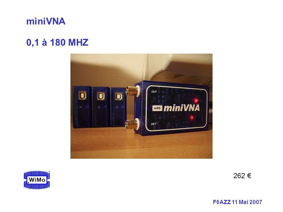 miniVNA 0,1 à 180 MHZ 262 €