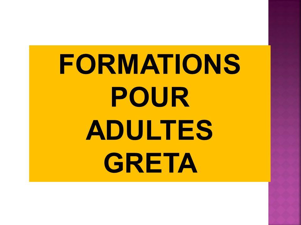 Portail de la Formation pour Adultes