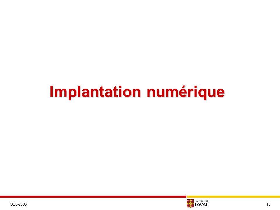 Implantation numérique