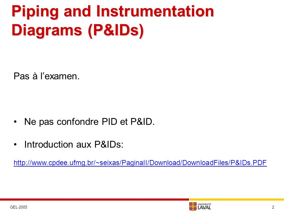 Piping and Instrumentation Diagrams (P&IDs)