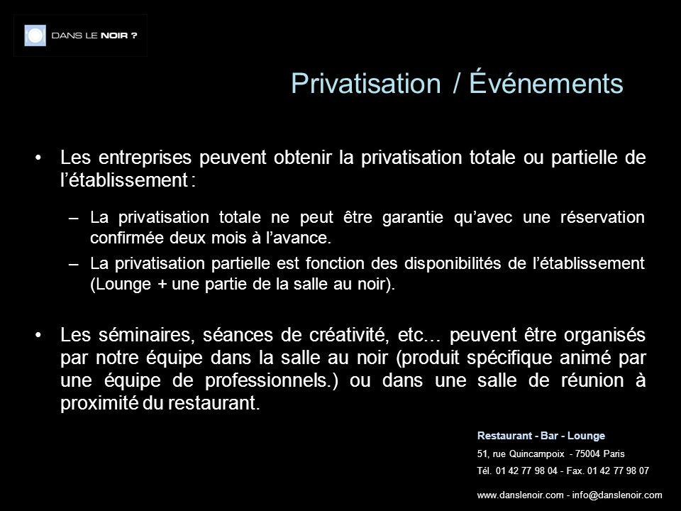 Privatisation / Événements