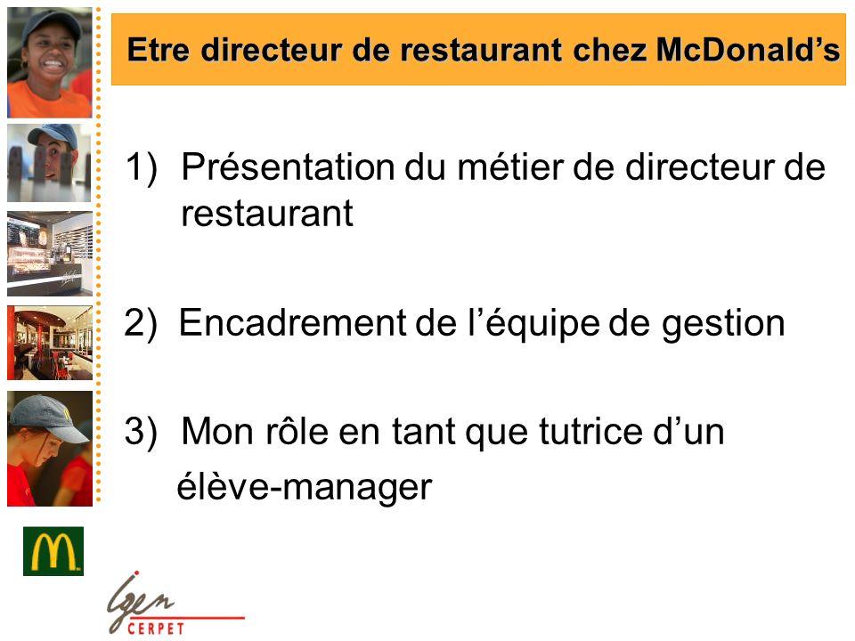 Présentation du métier de directeur de restaurant