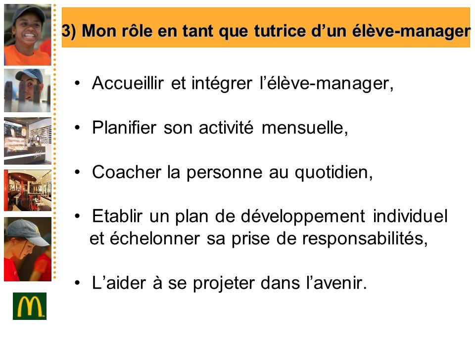 3) Mon rôle en tant que tutrice d'un élève-manager