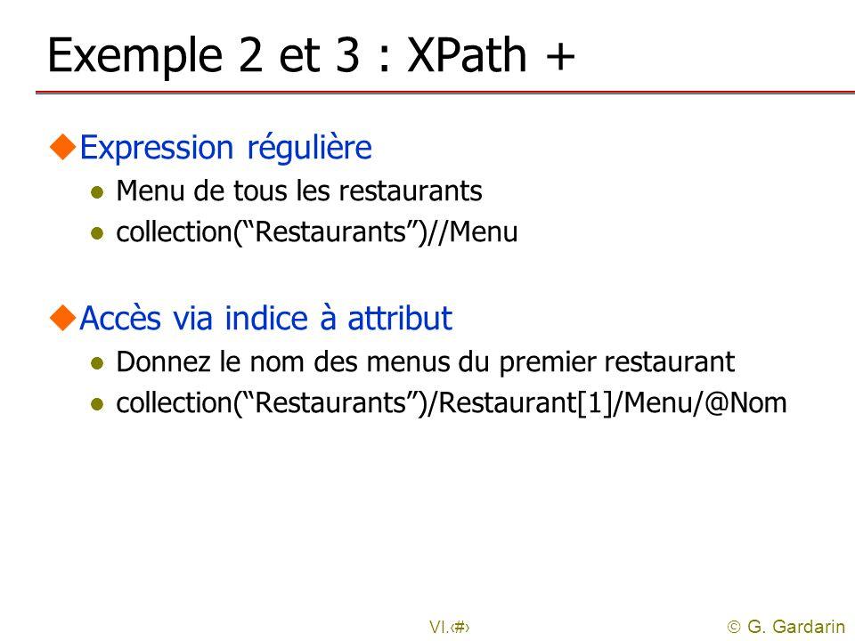 Exemple 2 et 3 : XPath + Expression régulière