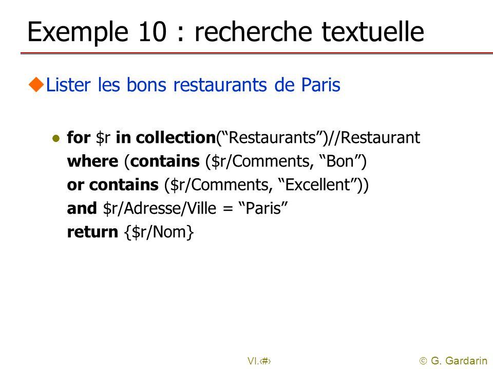 Exemple 10 : recherche textuelle