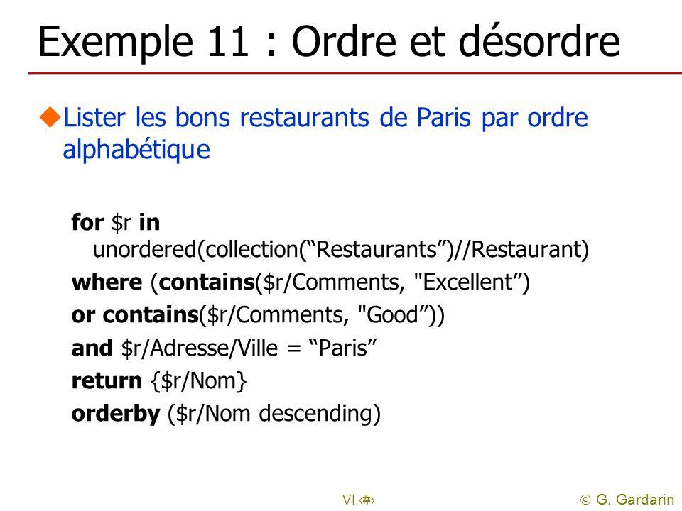 Exemple 11 : Ordre et désordre