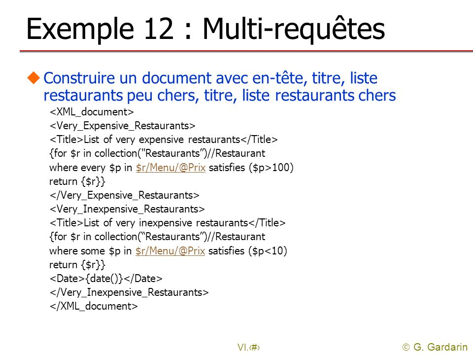 Exemple 12 : Multi-requêtes