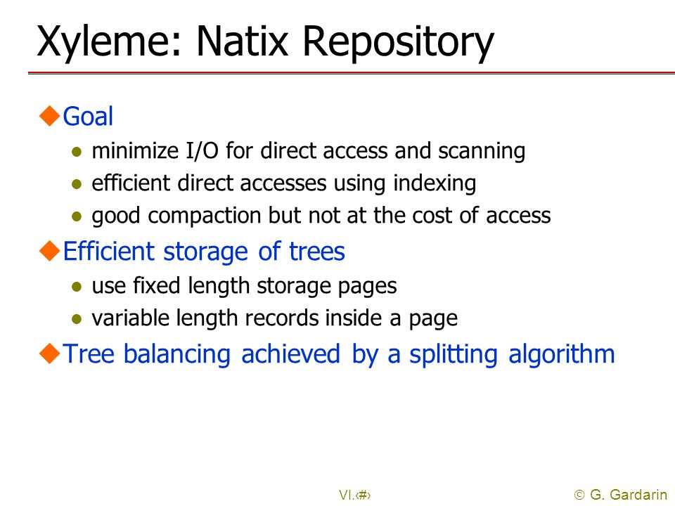 Xyleme: Natix Repository
