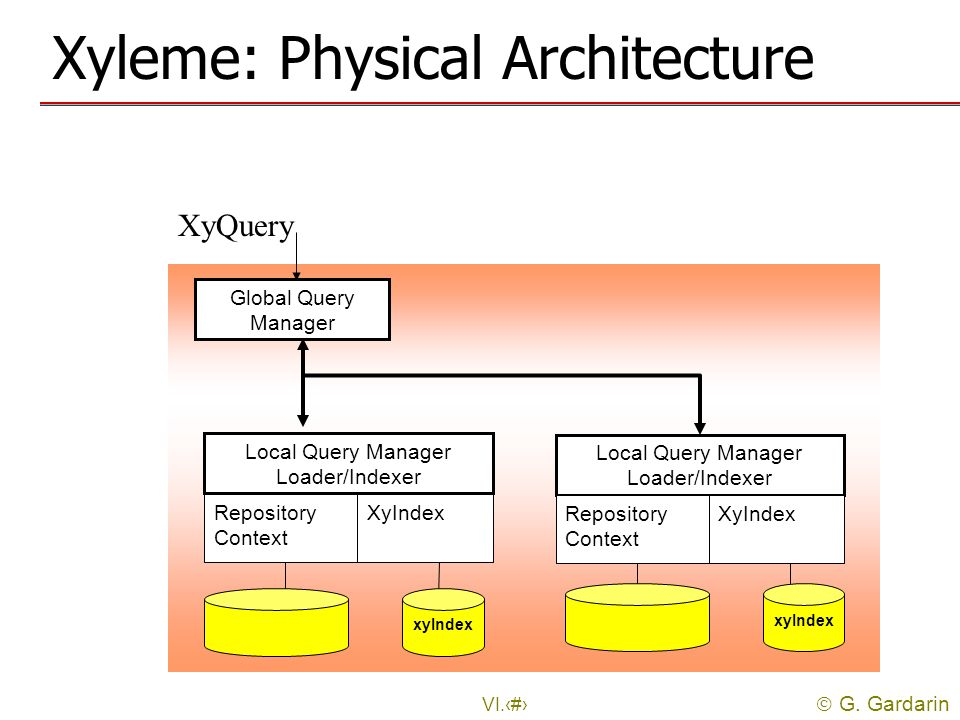 Xyleme: Physical Architecture