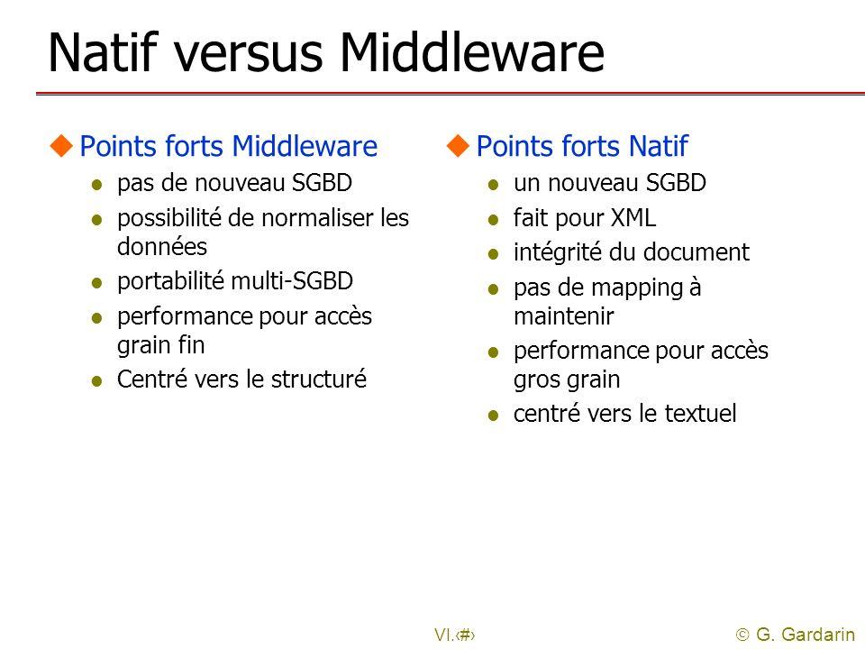 Natif versus Middleware